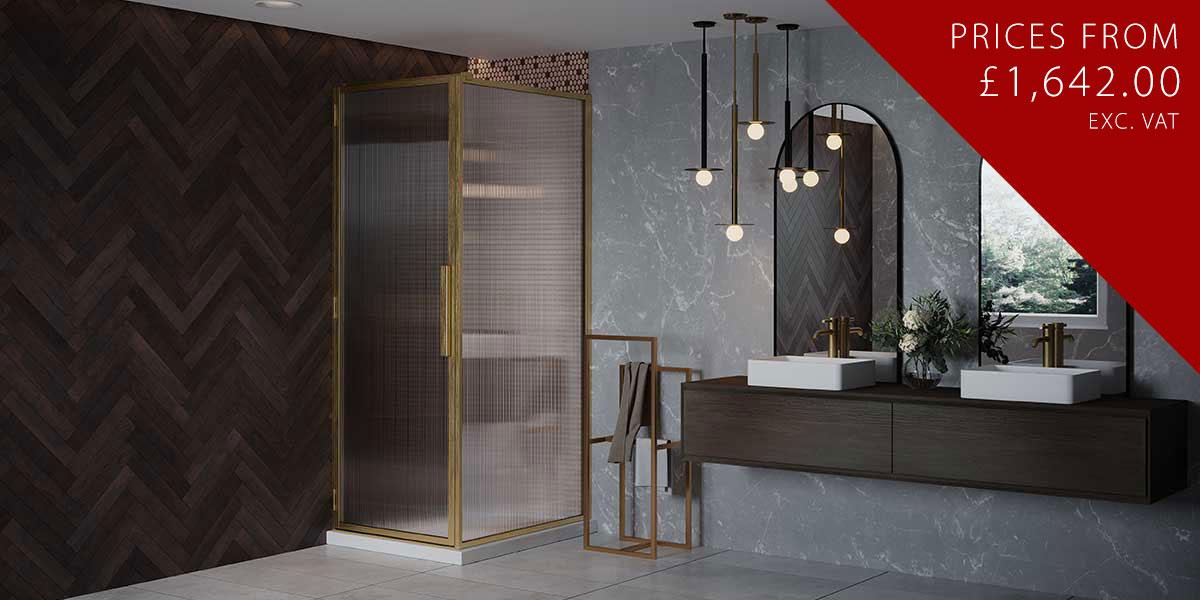 LH Shower Door + Return Panel