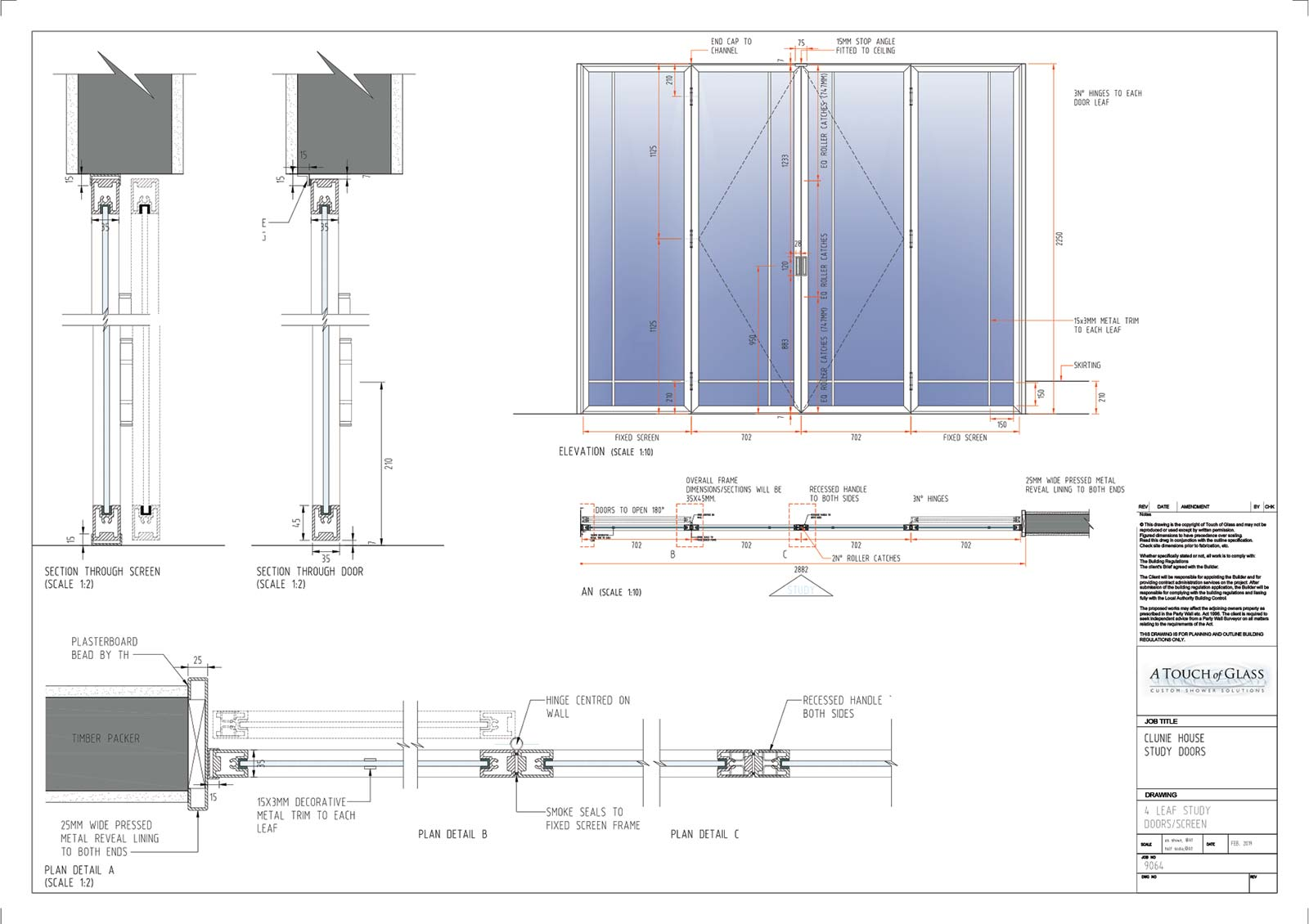 A Touch of Glass Drawing of Proposed Doors